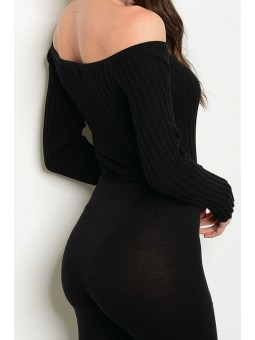 100% Cotton Off Shoulder Ribbed Bodysuit