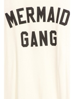 Mermaid Gang graphic printed jersey knit tank top with scoop neckline and racerback detail