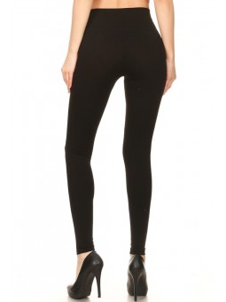 Basic, Skinny Fit With A Banded Elastic High Waist Seamless Leggings. 4-Way Stretch, With Body Slimming Tummy Control. Super Str