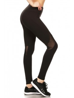 Solid, Sports Leggings Activewear Pants In A Slim Fitting Style With A Banded High Waist  And Mesh Detailing Four Way Stretch (K
