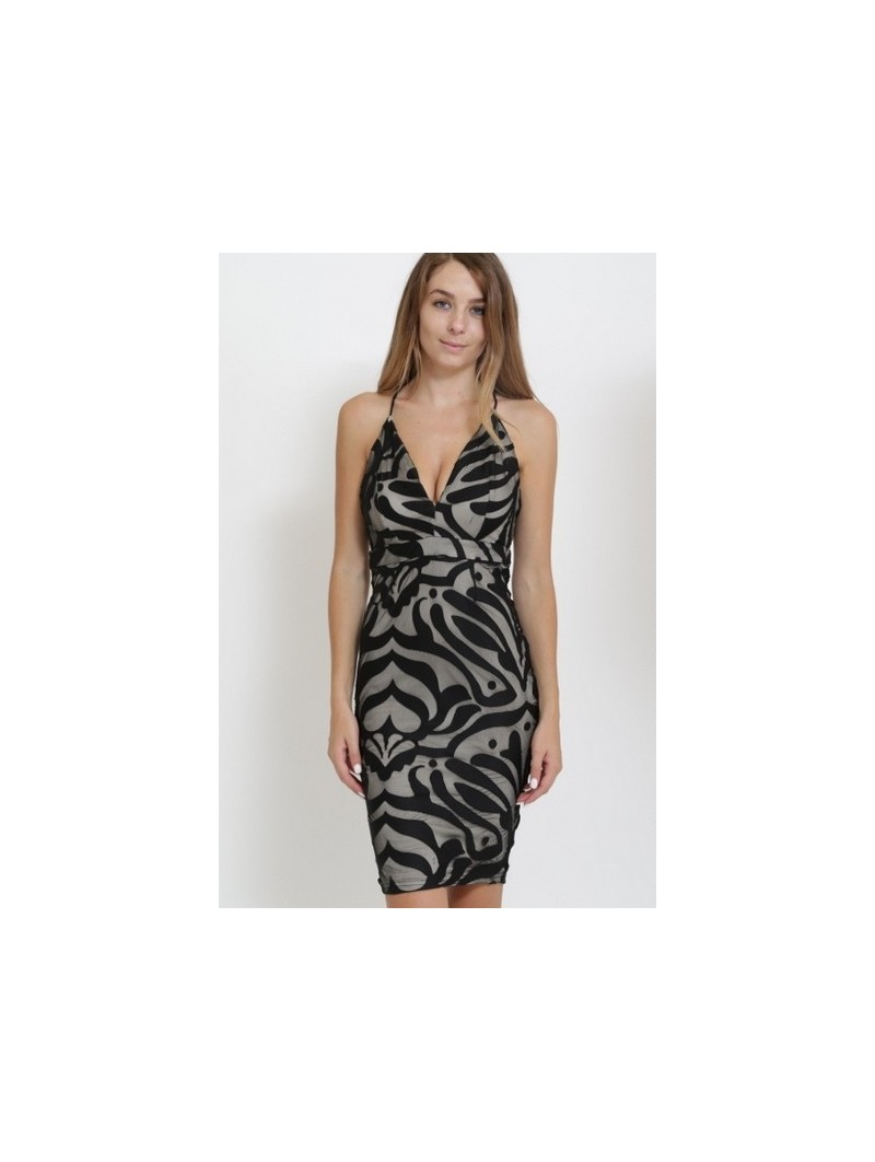 Sleeveless Cutout Plunging Neck Bodycon