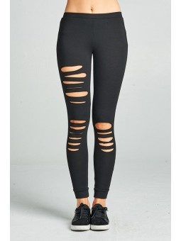 Solid Laser Cut Leggings. Bringing The Leggings Game A Notch Up, This One Has A Trendy Laser Cut Trendy Design