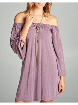 City Tenderness Off Shoulder Airy Dress