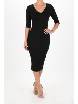 Lady Diana Long Tight Bodycon Midi Dress