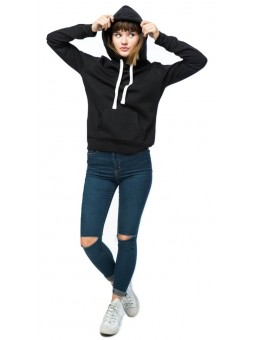 Long-Sleeved Sweater With A Lined, Drawstring Hood. Kangaroo Pocket At Front, Ribbing At Cuffs And Hem.