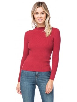 Long Sleeve Mock Neck Sweater.