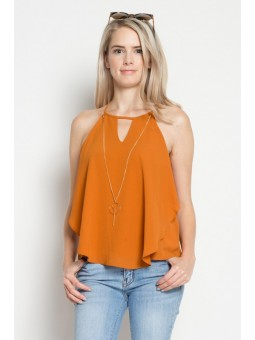Cold Shoulder Top (Woven)