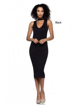A Stretch Knit Cutout Dress