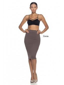 A Stretch Knit Pencil Skirt, Elasticized Waistband