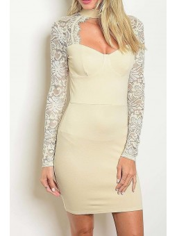 Long Sleeve Cutout Bodycon Dress