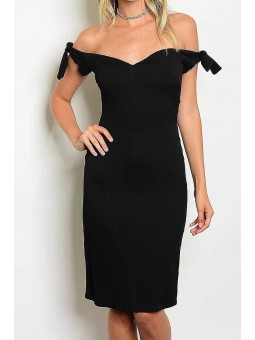 Off Shoulder Sweetheart Bodycon Dress