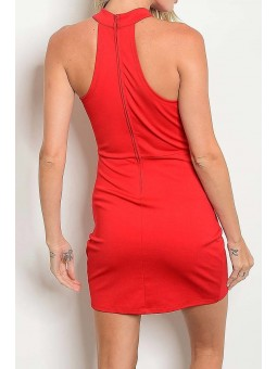 Keyhole With Racer Back Front Drape Dress