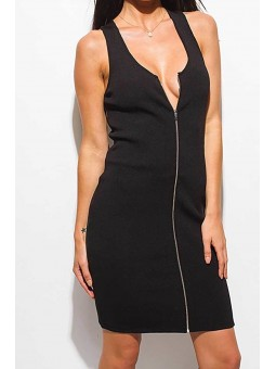 Ribbed Knit Sleeveless Pencil Sexy Midi Dress