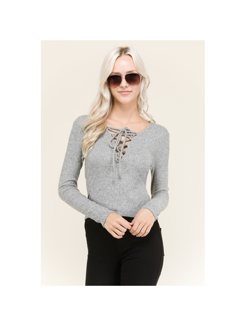 Long Sleeve Front Strap Top