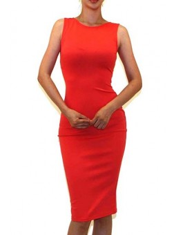 Sleeveless Body-Con Pencil Midi Dress