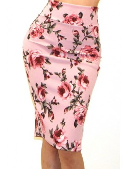 Sexy Floral Pencil Skirt