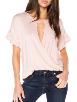 Surplice Ruffle Top