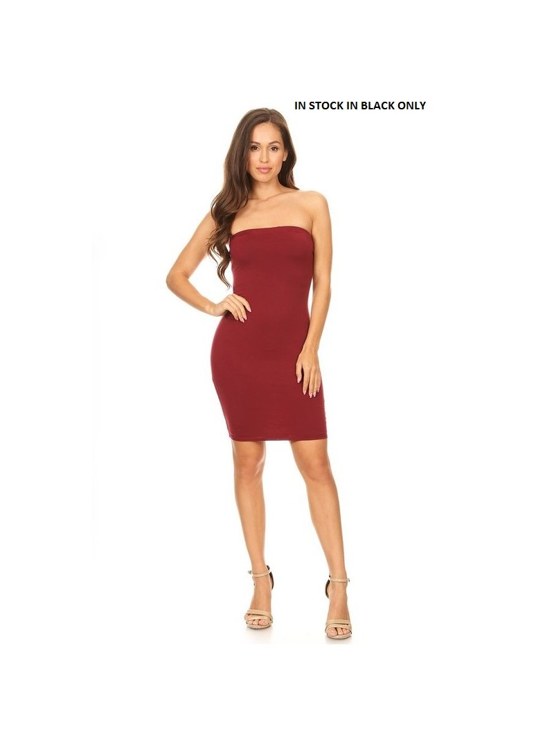 Mama Mia Jersey Tube Dress with Elastic Neckline